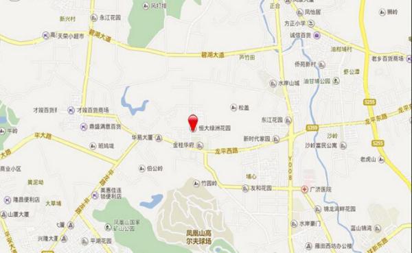 东莞恒大绿洲区位图