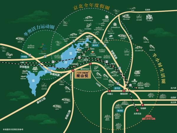 八达岭孔雀城区位图