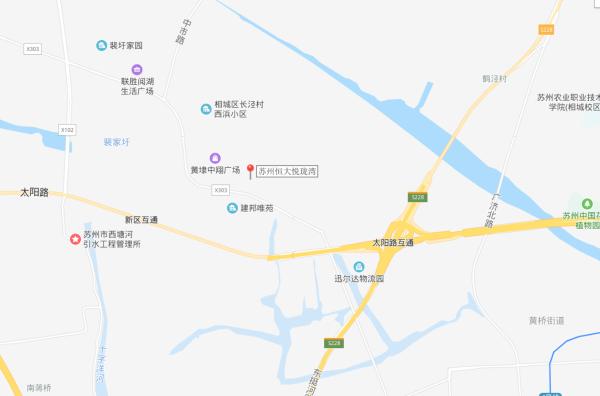 苏州恒大悦珑湾区位图