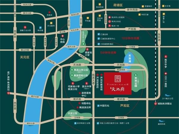 珠峰天池府区位图