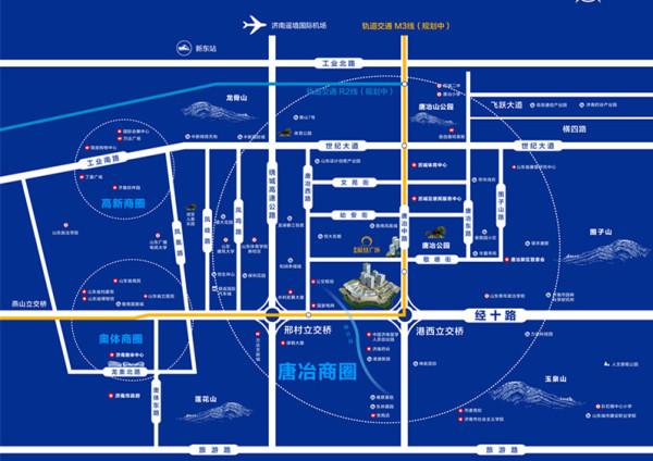鲁商凤凰广场区位图