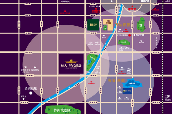 亳州恒大时代御景区位图