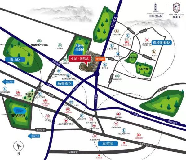 中城国际城区位图