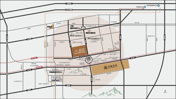 山东省大数据产业基地区位图