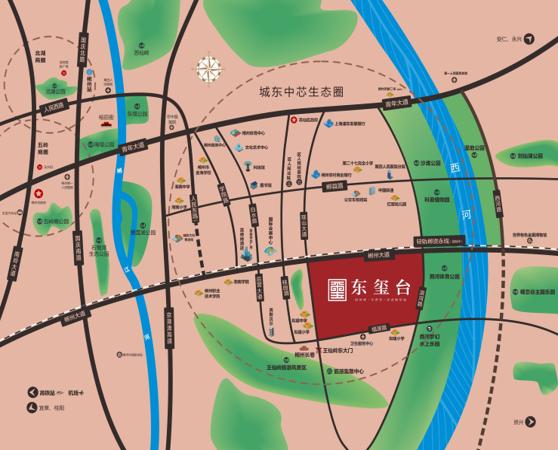 湖南建工·东玺台区位图