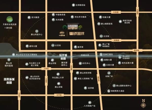 中国铁建唐颂国际区位图
