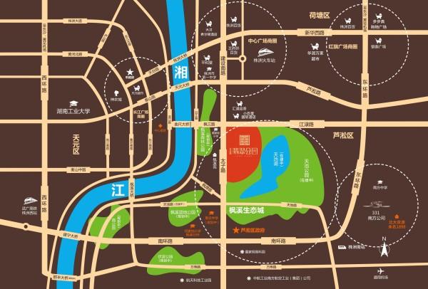北大资源翡翠公园区位图