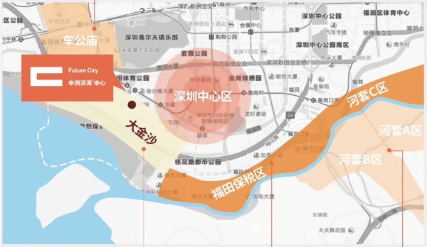 中洲滨海商业中心区位图