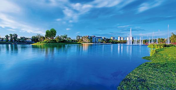 孔雀城大湖效果图