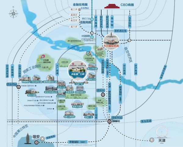 孔雀城大湖区位图