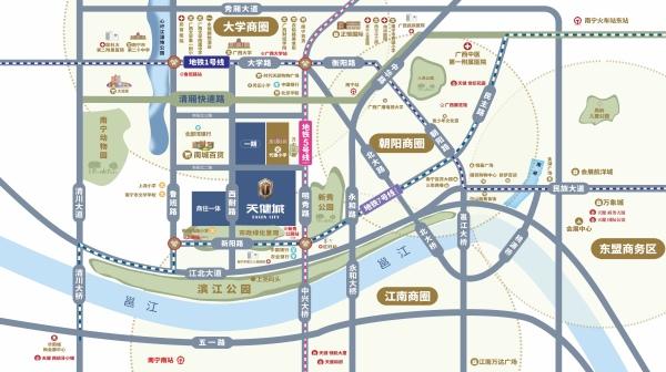 南宁天健城区位图