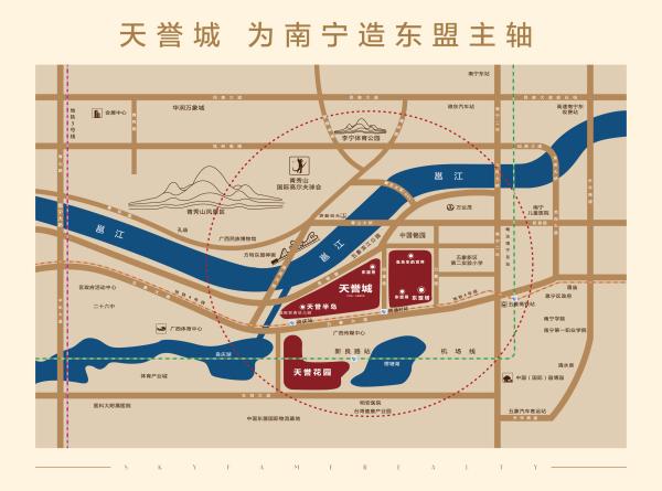 南宁天誉城区位图