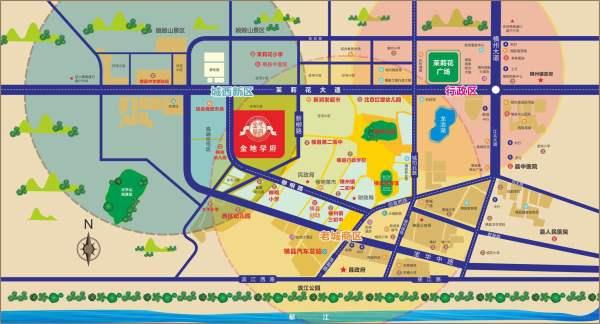 金地学府区位图