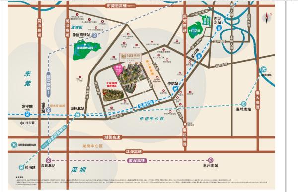 世茂福晟·钱隆华府区位图