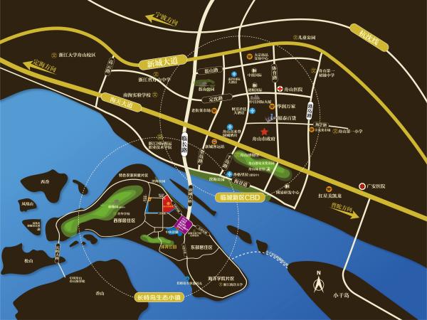 舟山恒大悦珑湾区位图