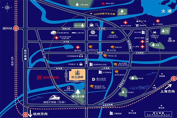 湖州恒大御峰项目区位图