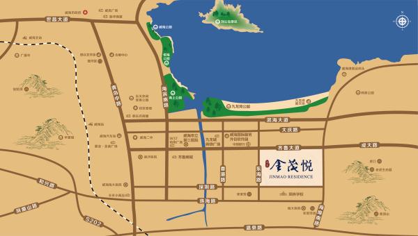 威海凤集金茂悦区位图
