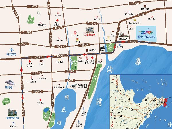 威海恒大御海半岛区位图