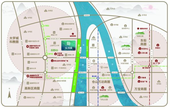 恒荣九洲悦城区位图