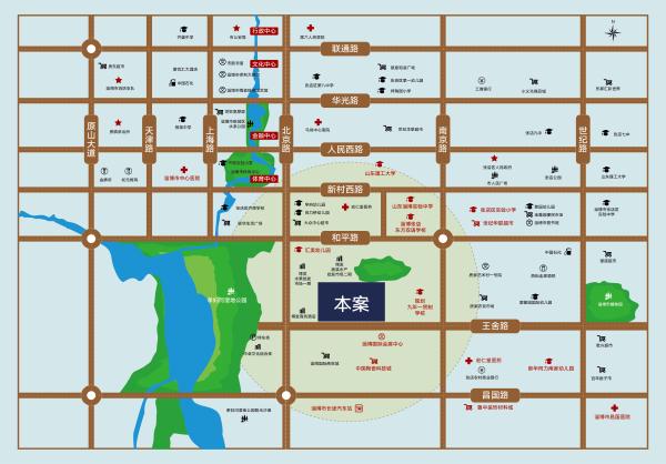 淄博博发·铂寓区位图