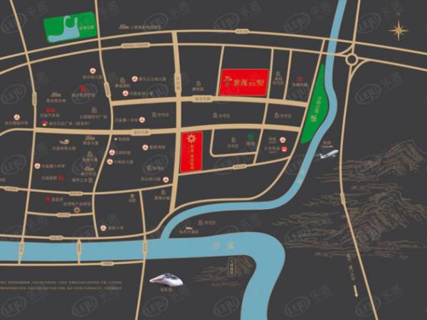 沙县世茂璀璨新城区位图