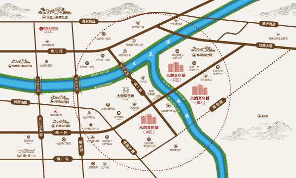 永鸿文化城(C地块)区位图