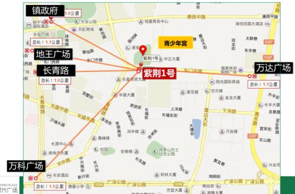 紫荆广场区位图