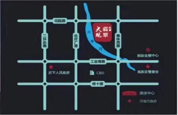 济南翡翠大观区位图
