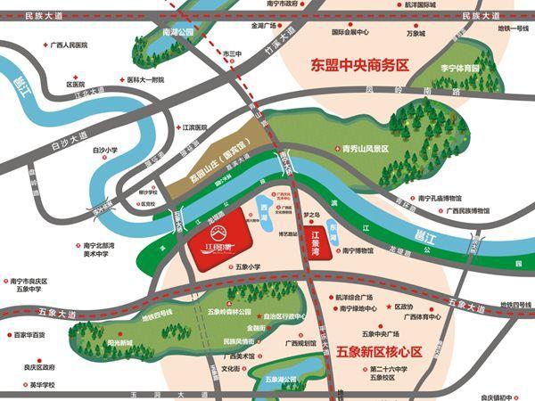 南宁江璟湖区位图