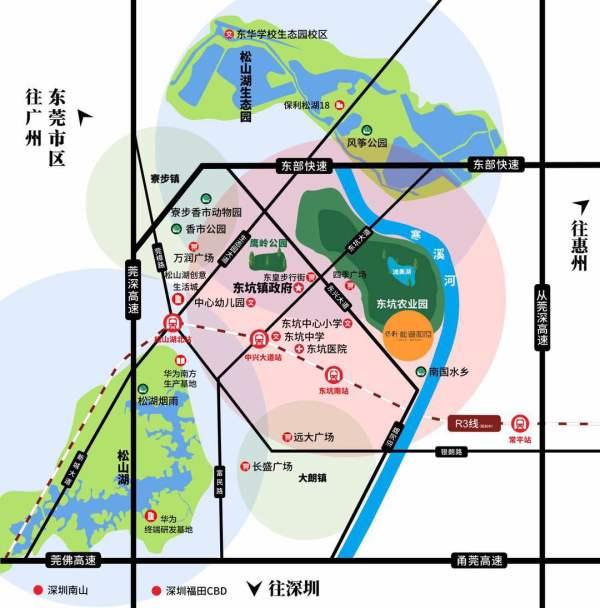 保利松湖和府区位图
