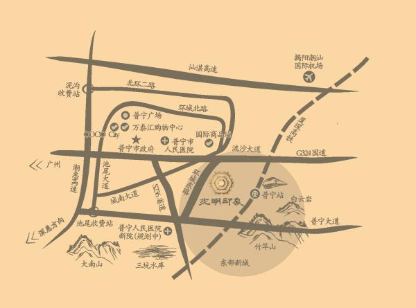 盛迪嘉·光明印象区位图