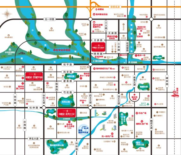 北京城房-珑熙庄园区位图