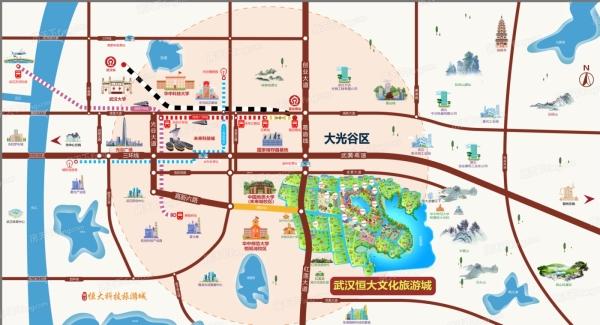 武汉恒大文化旅游城区位图