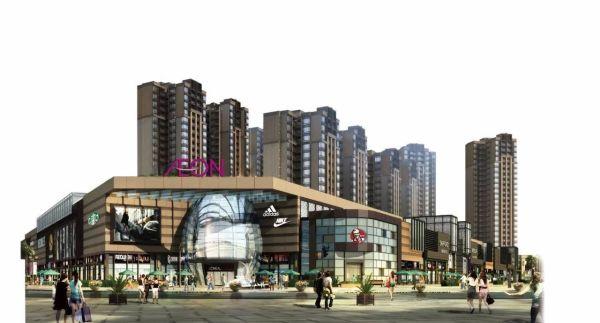 东莞远大生活广场效果图