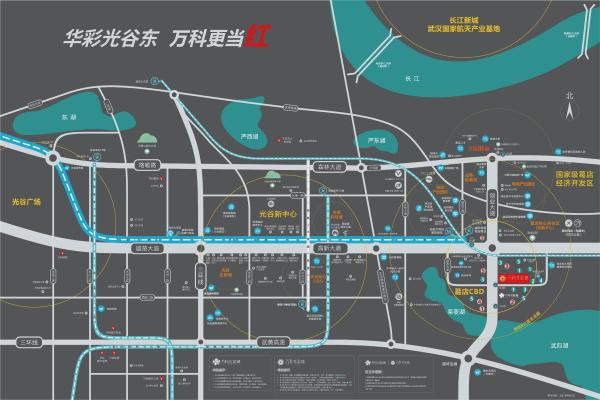 万科华彩城区位图