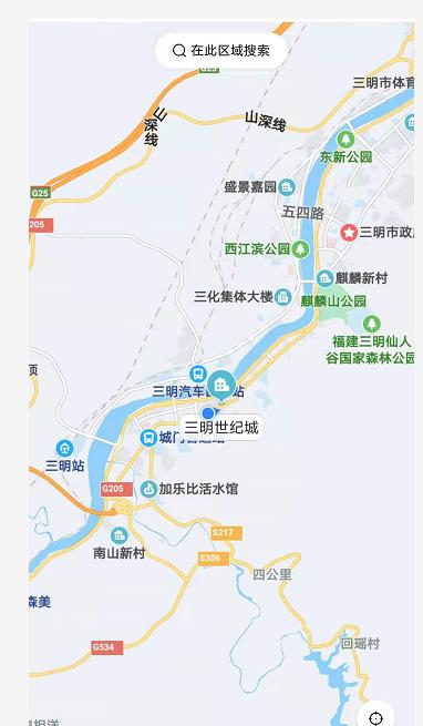 三明世纪城区位图
