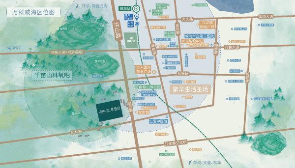 万科威高璞悦山区位图