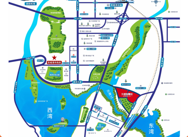 中国东盟离岸信息服务外包产业园区位图
