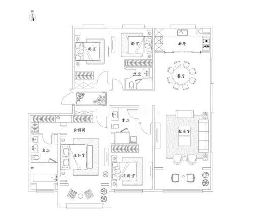 泰禾济南院子4室2厅3卫-220m²-3