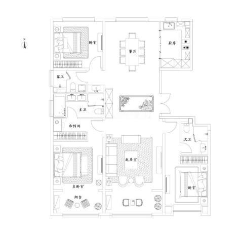 泰禾济南院子3室2厅3卫-182m²-2