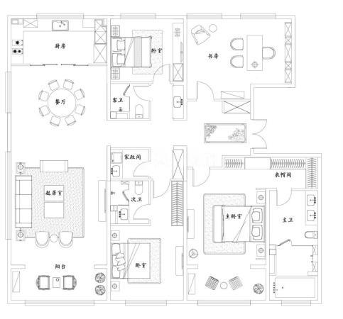 泰禾济南院子5室2厅3卫-249m²-4