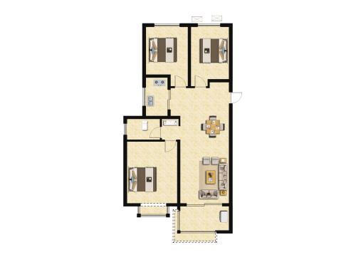 金科城3室2厅1卫-108m²-2