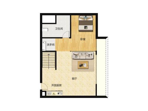 保利达小行星1室1厅1卫-30m²-2