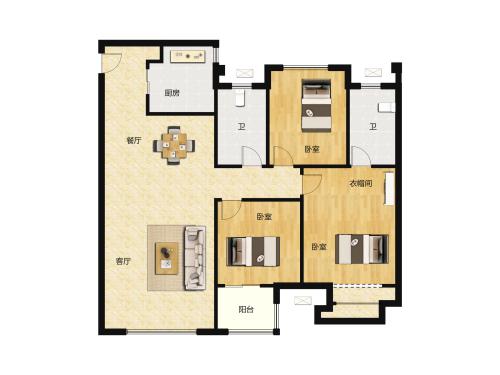 骏茂府3室2厅2卫-110m²-2