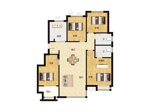 骏茂府4室2厅2卫-129m²-3