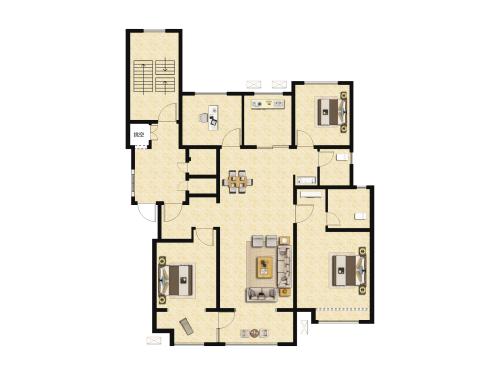 万科翡翠山语4室2厅2卫-133m²-4