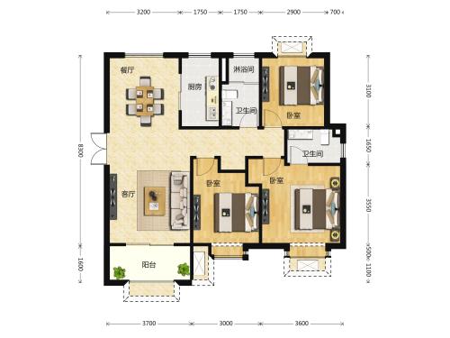 地平西棠甲第3室2厅2卫-115m²-7