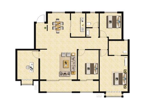 地平西棠甲第4室2厅2卫-161m²-2