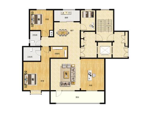 新中铁城洋房-4室2厅2卫-150m²