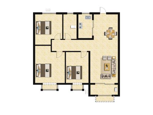 金科城3室2厅1卫-110m²-4